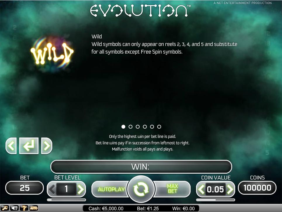 evolution slot machine detail image 5