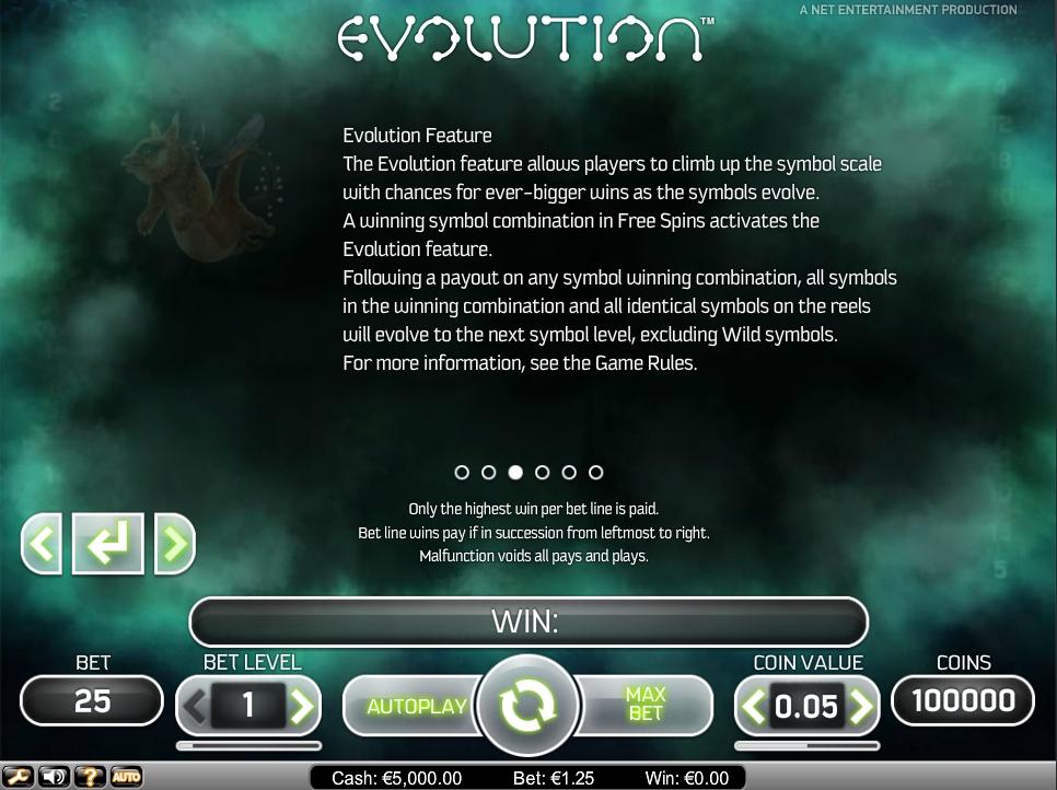 evolution slot machine detail image 3