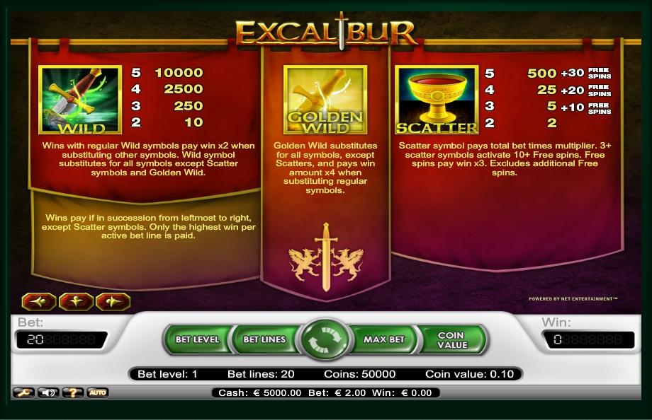 Free Slots Excalibur