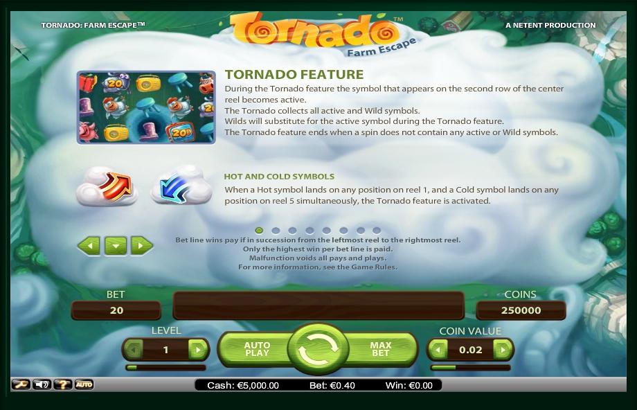 tornado: farm escape slot machine detail image 7