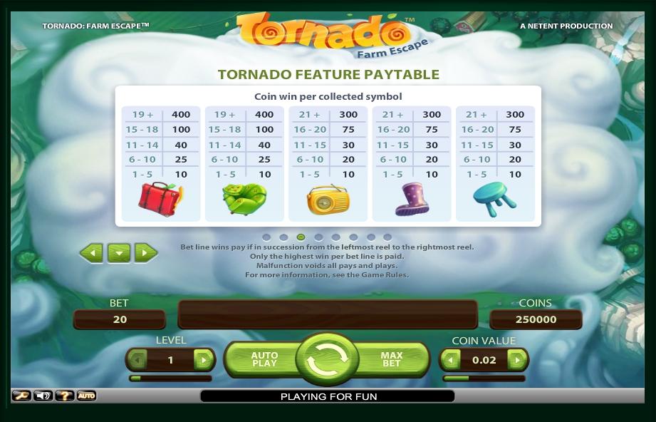 tornado: farm escape slot machine detail image 5