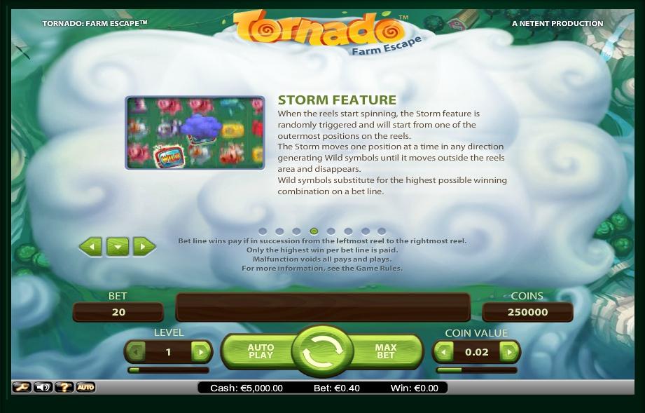 tornado: farm escape slot machine detail image 4