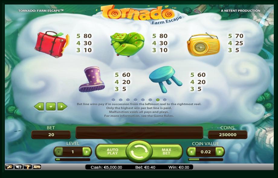 tornado: farm escape slot machine detail image 1
