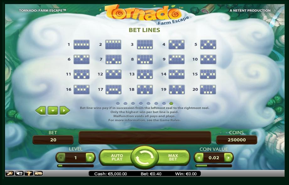 tornado: farm escape slot machine detail image 0