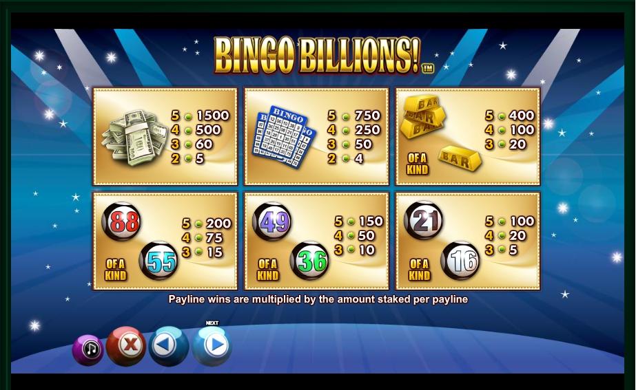 Bingo Billions! Slot Machine
