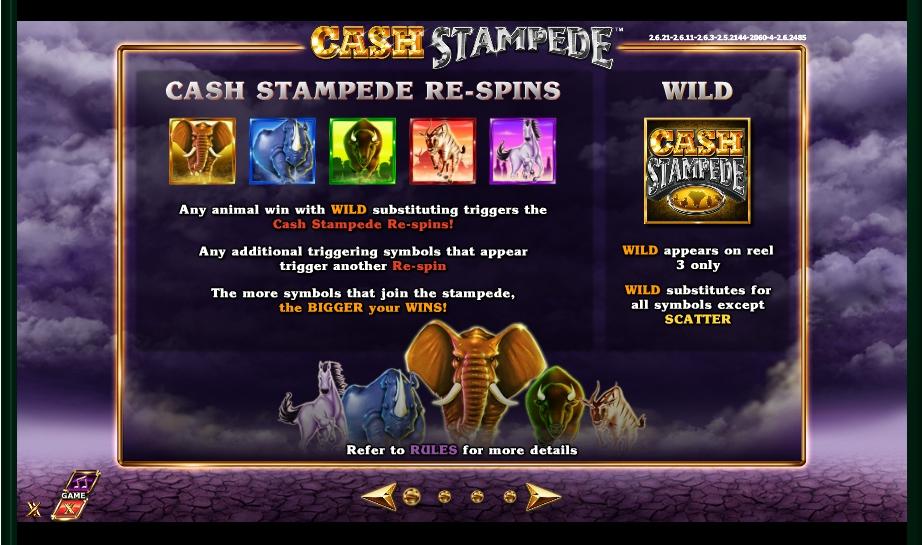 cash stampede slot machine detail image 3