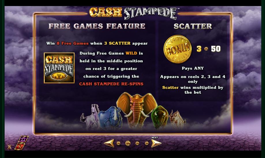 cash stampede slot machine detail image 2