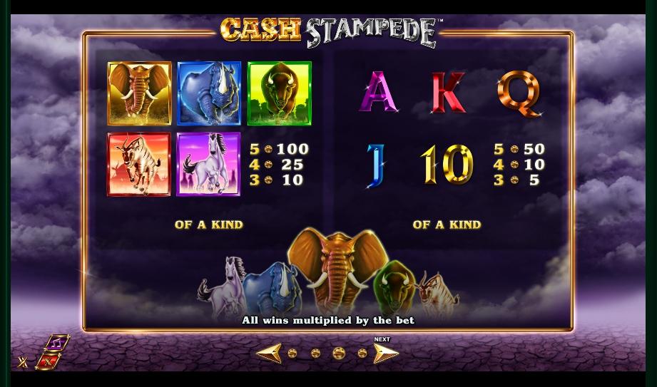 cash stampede slot machine detail image 1