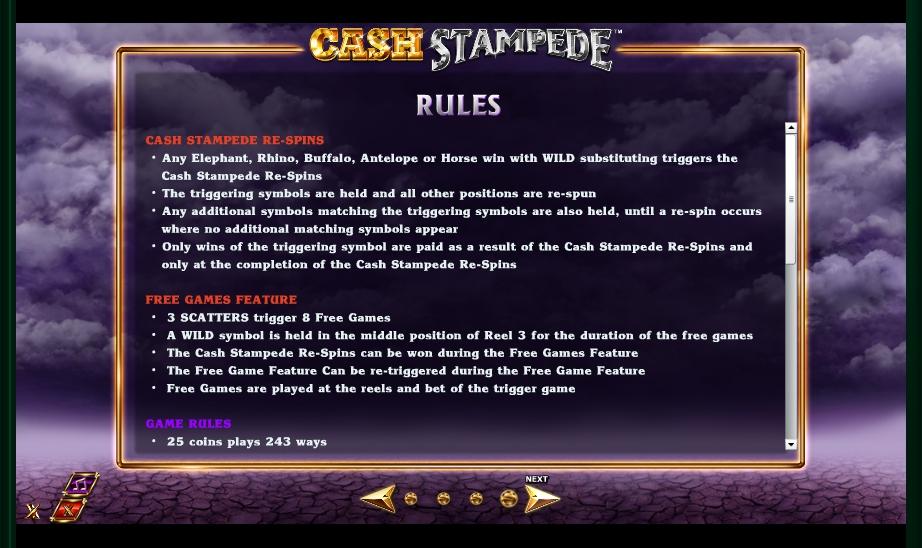 cash stampede slot machine detail image 0