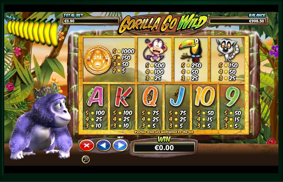 Gorilla Go Wild Slot Machine