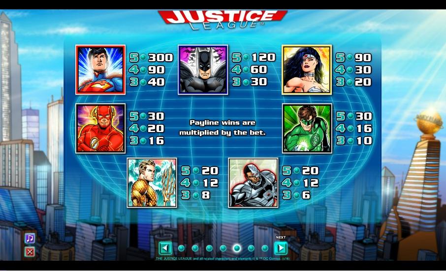 Free Justice League Slot Machine Online