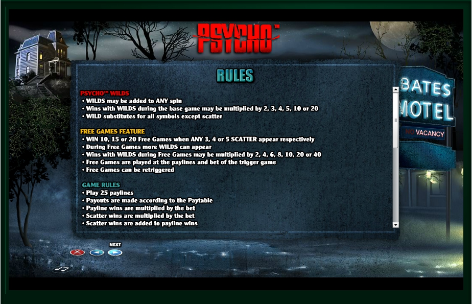 psycho slot machine detail image 1