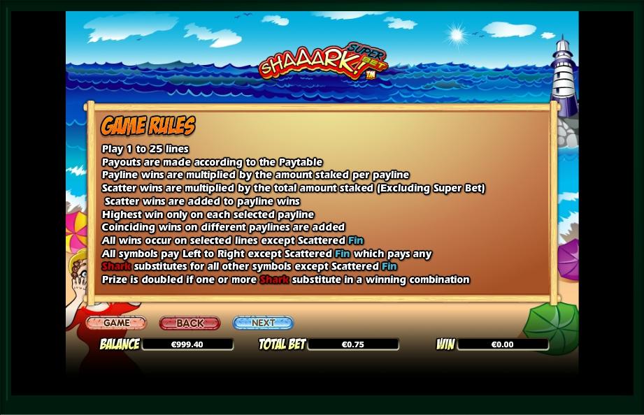 Shaaark! Super Bet Slot Machine