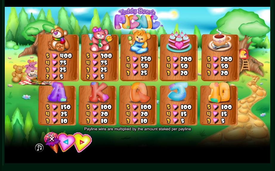 teddy bears picnic casino