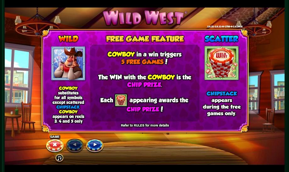 wild west slot machine detail image 5
