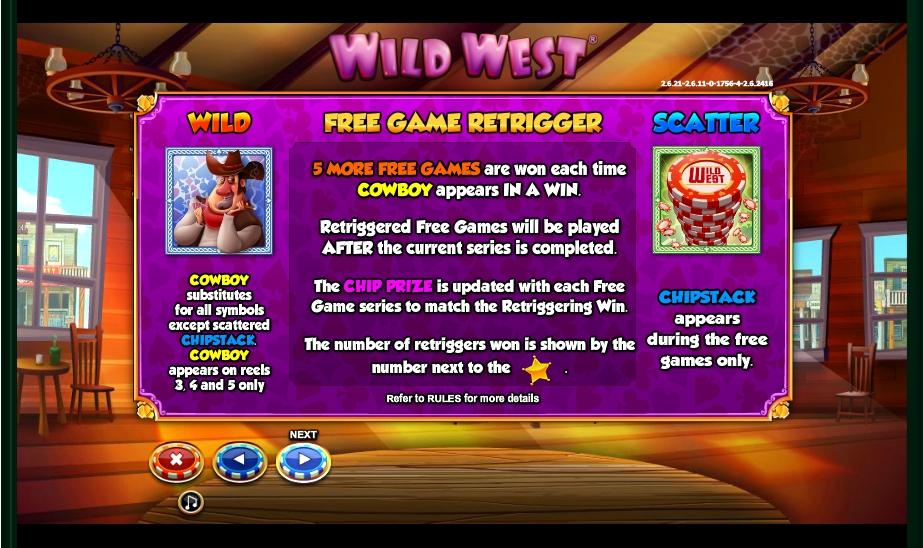 wild west slot machine detail image 4