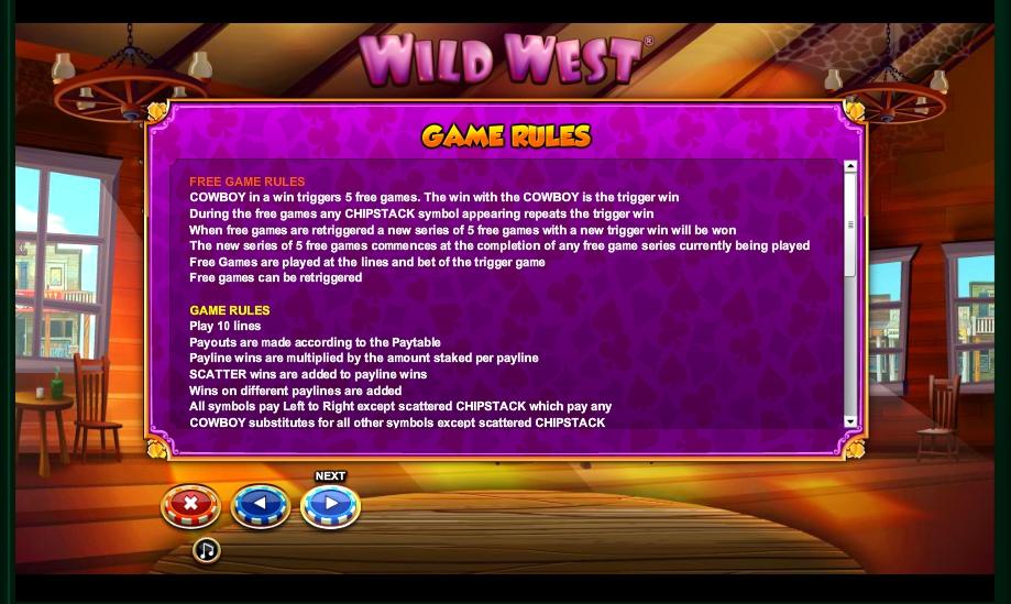 wild west slot machine detail image 1