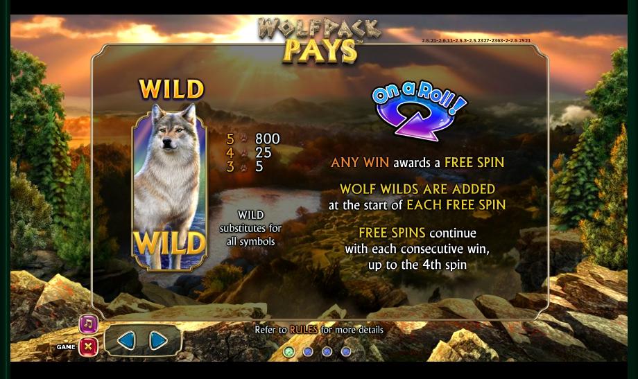 Wolfpack Pays Slot Machine