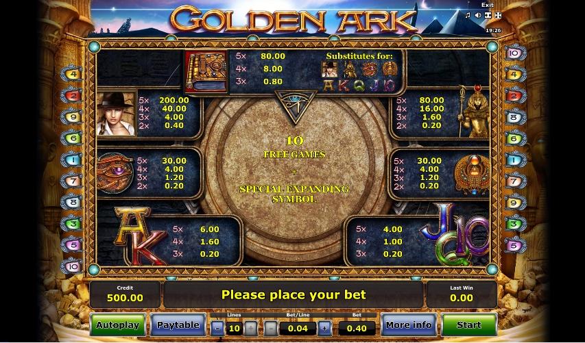 New Free Play Slot Golden Ark