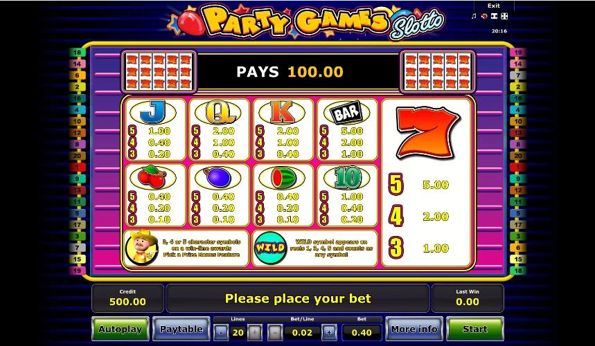Party Games Slotto Machine