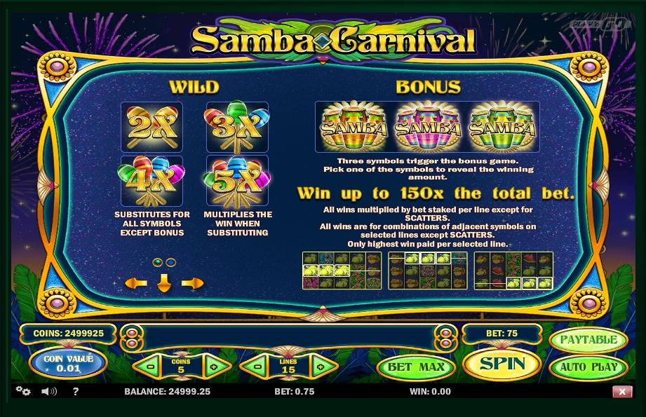 Samba Carnival Slot Machine