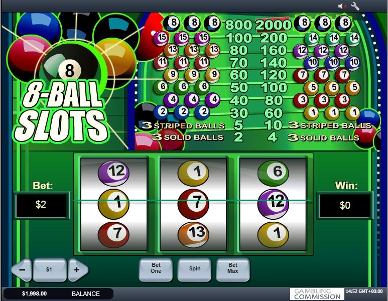 8 ball slot machine detail image 0