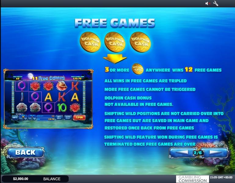 dolphin cash slot machine detail image 4