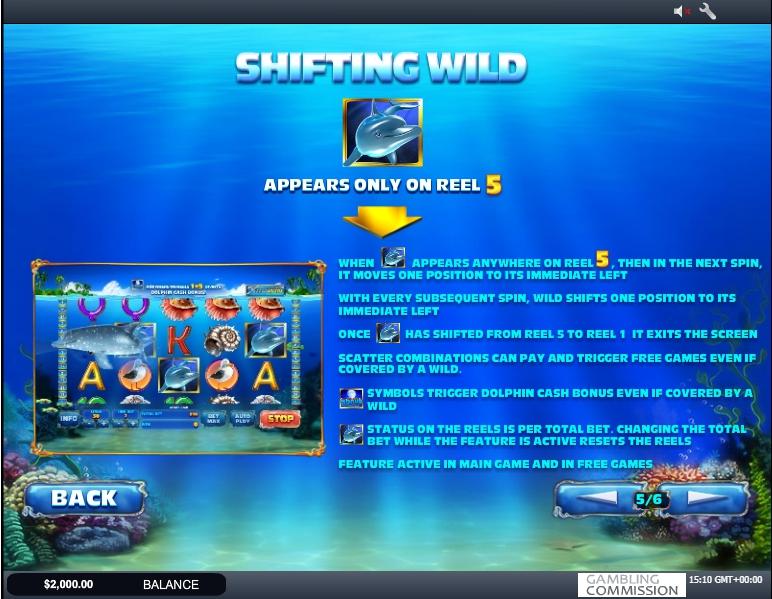 dolphin cash slot machine detail image 1