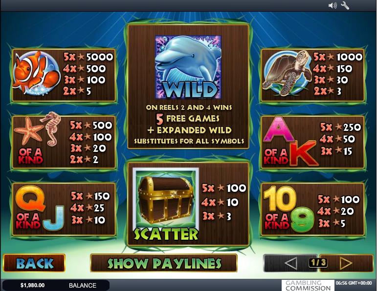 dolphin reef slot machine detail image 2
