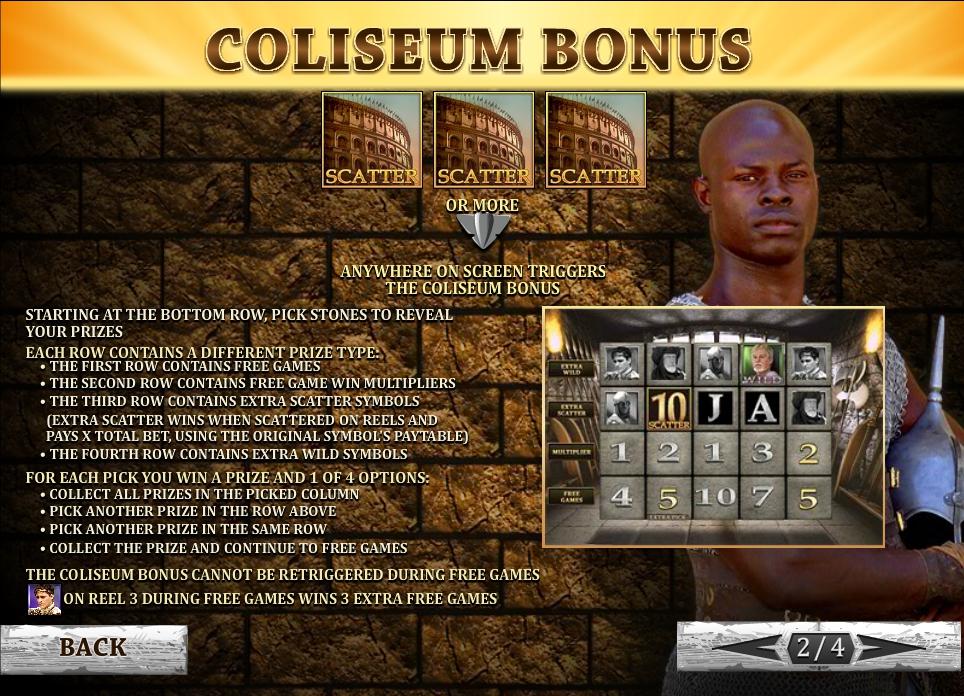 Gladiator Road To Rome Slot Machine