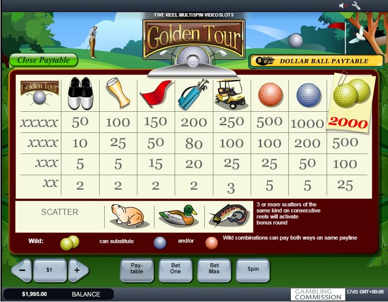 Spiele Golden Tour - Video Slots Online