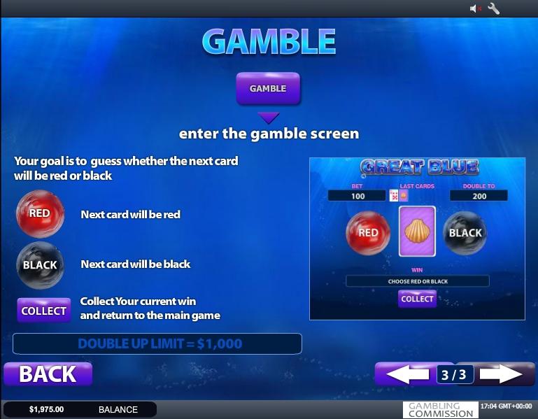 great blue slot machine detail image 0