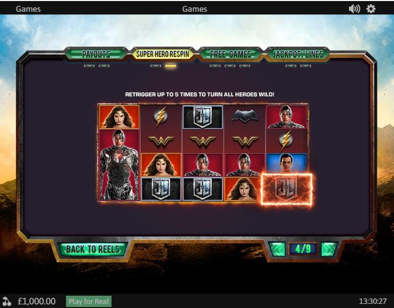No Download Justice Machine Online Slots