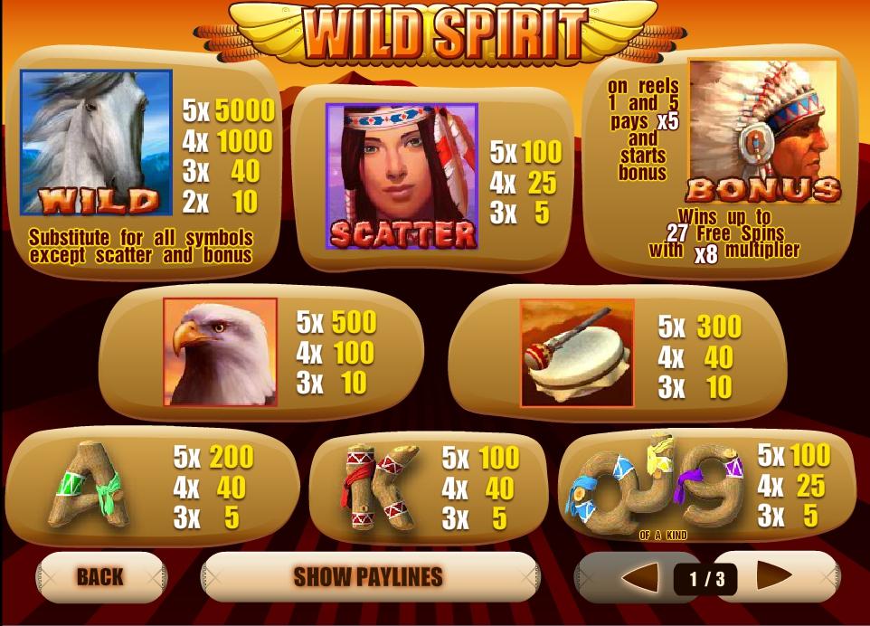 Wild Spirit Slot Machine