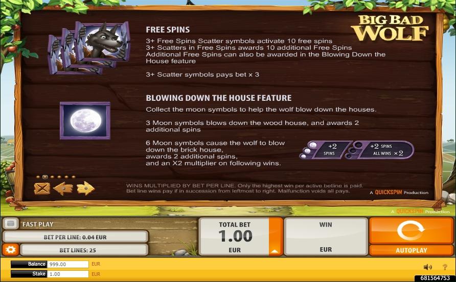 big bad wolf slot machine detail image 4