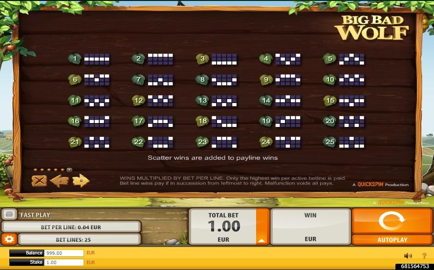 big bad wolf slot machine detail image 0