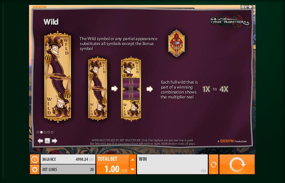The Three Musketeers Slot Machine