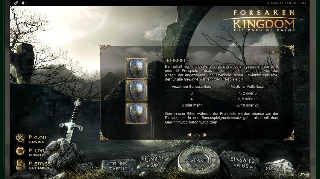forsaken kingdom slot machine detail image 5