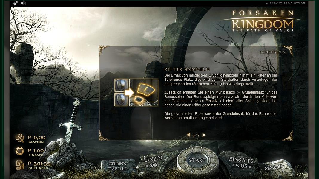 forsaken kingdom slot machine detail image 4