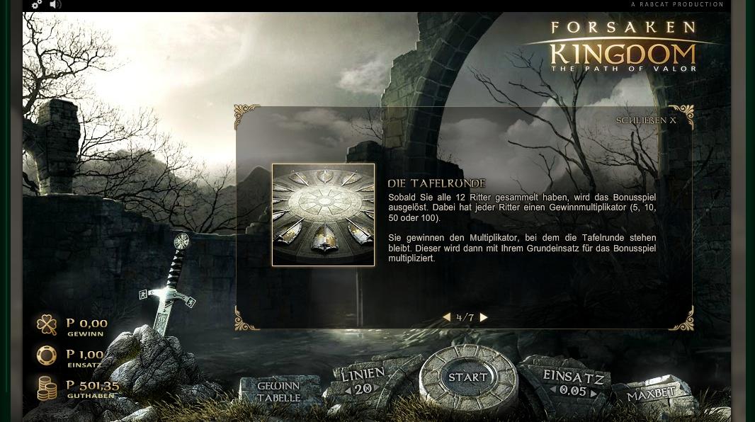 forsaken kingdom slot machine detail image 3