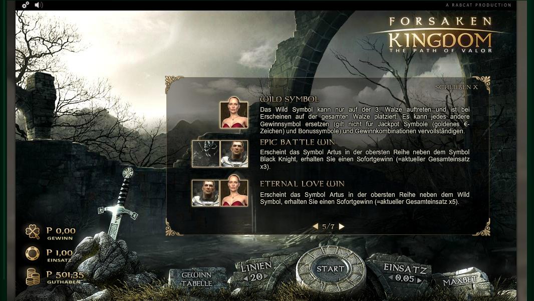forsaken kingdom slot machine detail image 2