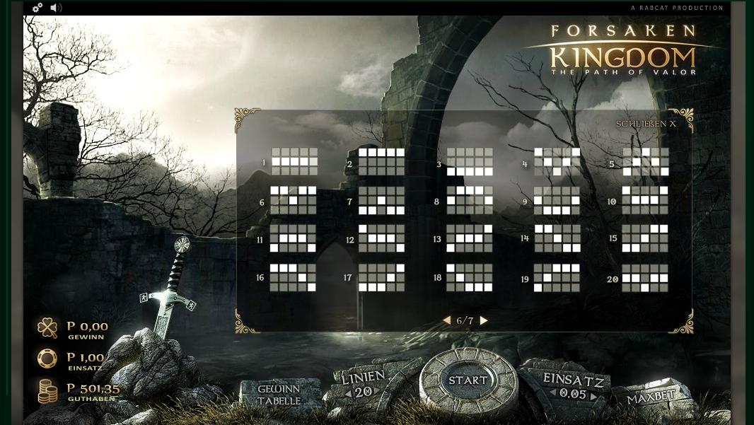 forsaken kingdom slot machine detail image 1