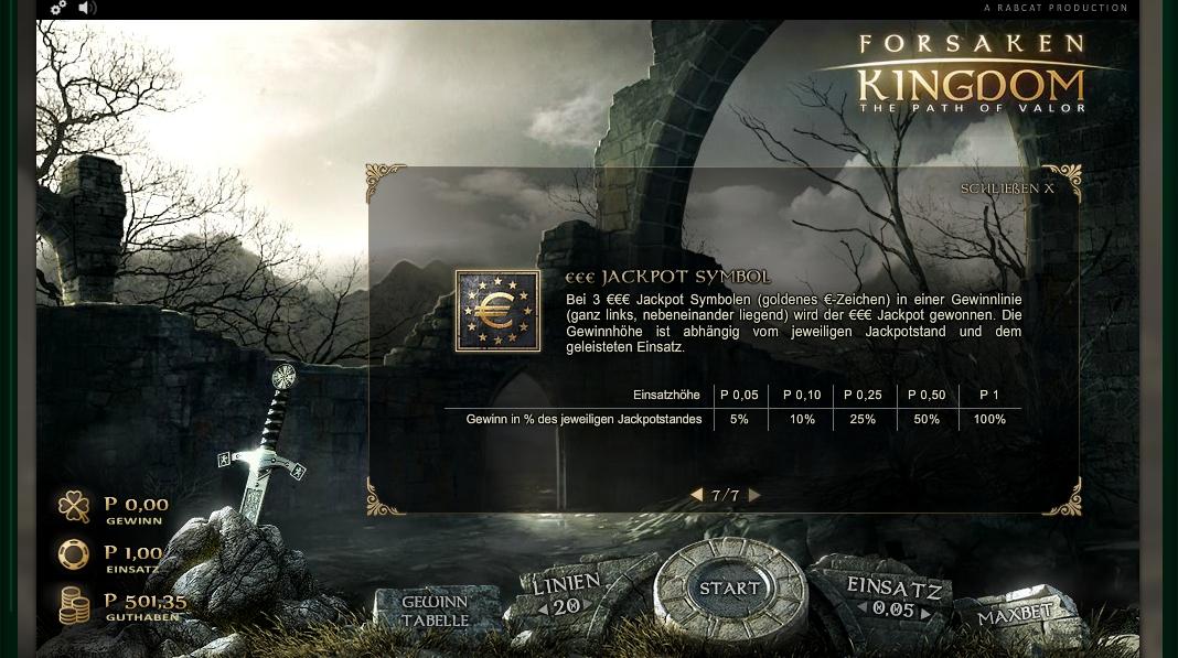 forsaken kingdom slot machine detail image 0