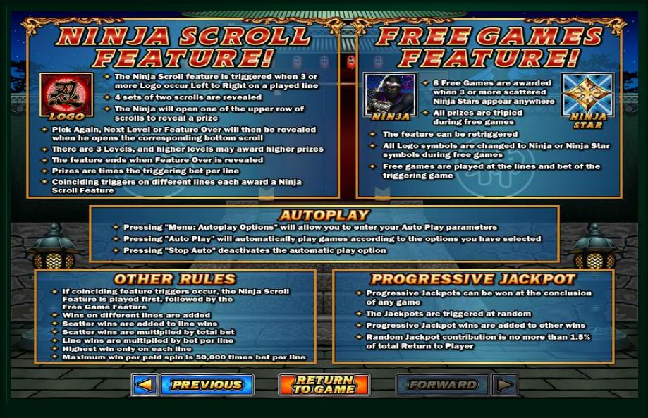 Play Ninja Star Slot Machine Free with No Download