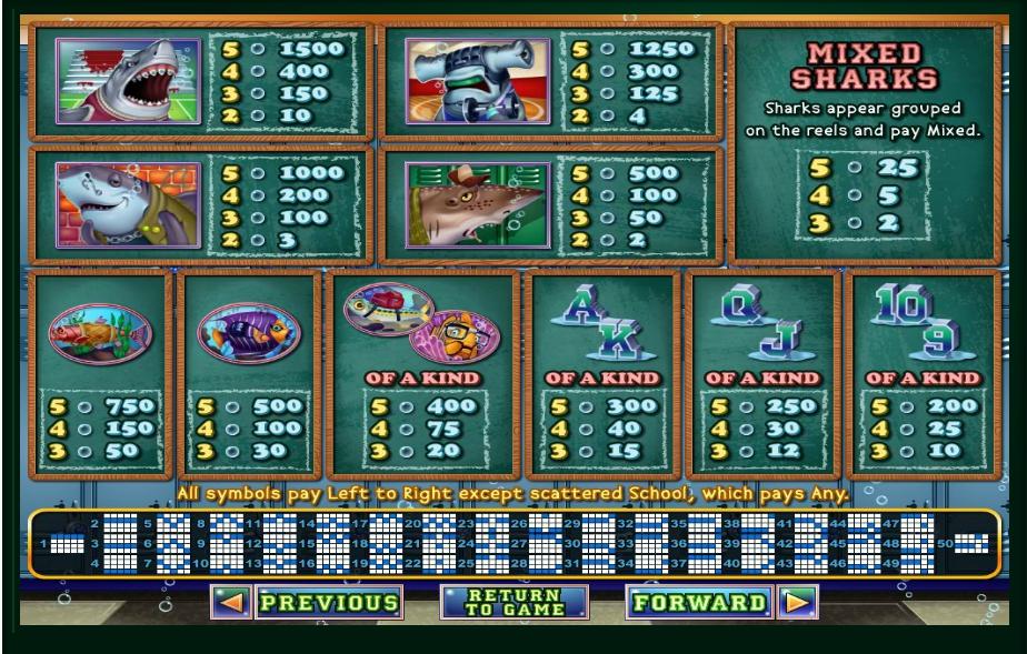 shark school slot machine detail image 5