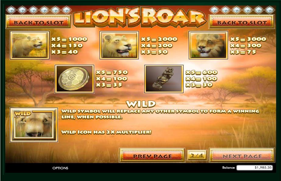 Lions Roar Slot Machine