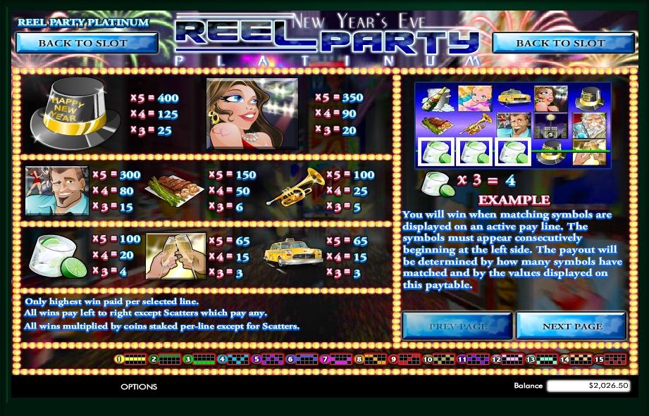 reel party platinum slot machine detail image 1