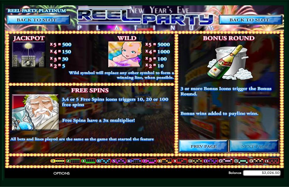 reel party platinum slot machine detail image 0