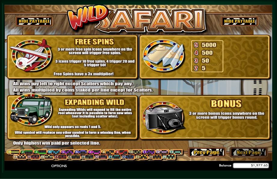 Play Wild Safari Slot Machine Free With No Download