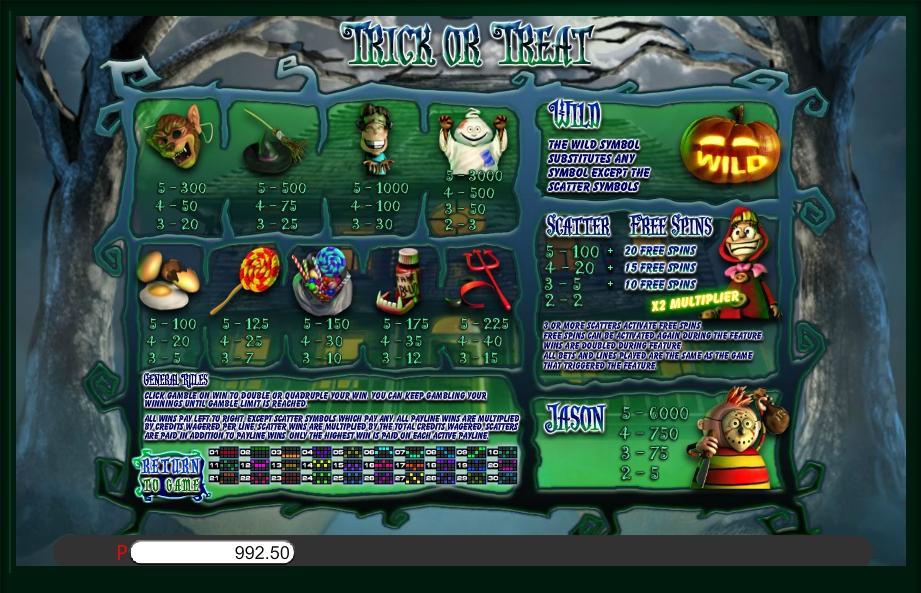 trick or treat slot machine detail image 0